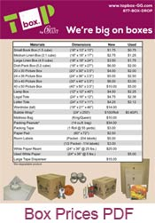 Moving Box Delivery Prices