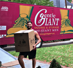 gentle giant and real estate agents work together